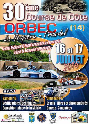 Course de Côte d'Orbec Friardel 2016