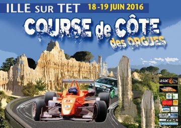 Affiche Course de Côte des Orgues - Ille-sur-Têt 2016