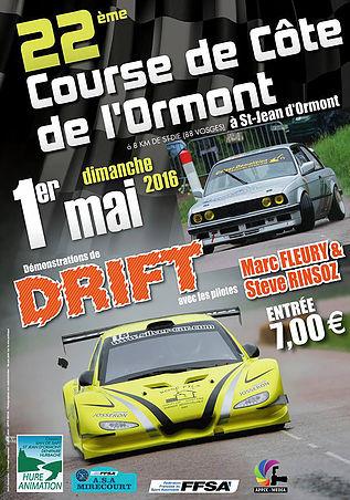 Affiche Course de Côte de l'Ormont 2016