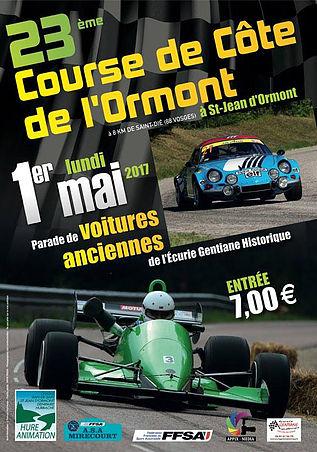 Affiche Course de Côte de l'Ormont 2017