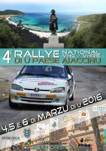 Affiche Rallye du Pays Ajaccien 2016