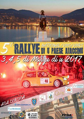 Affiche Rallye du Pays Ajaccien 2017