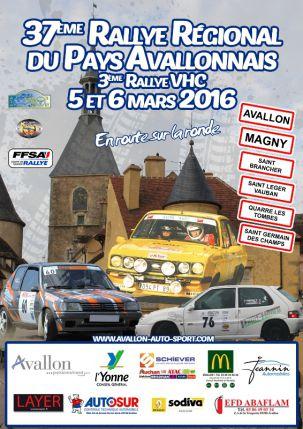 Affiche Rallye du Pays Avallonnais 2016