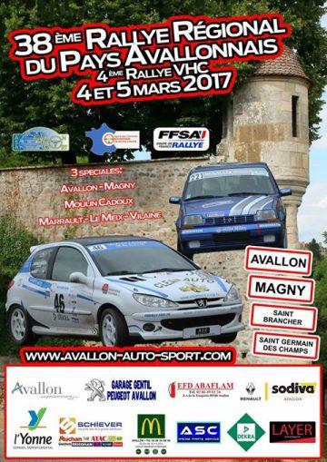 Affiche Rallye du Pays Avallonnais 2017