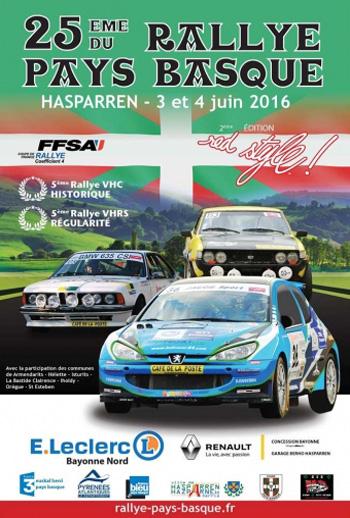 Affiche Rallye du Pays Basque 2016
