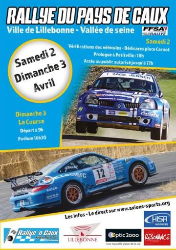 Affiche Rallye du Pays de Caux 2016