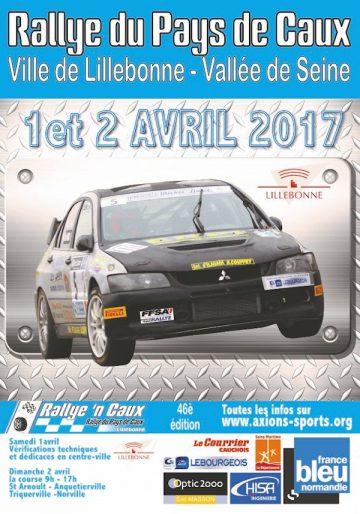 Affiche Rallye du Pays de Caux 2017