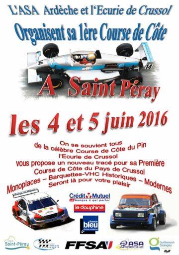 Affiche Course de Côte du Pays de Crussol 2016