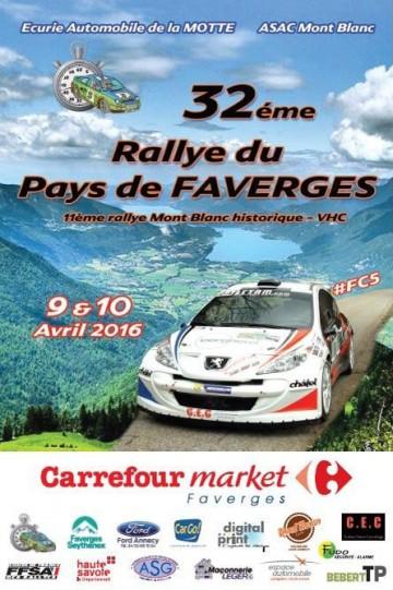 Affiche Rallye du Pays de Faverges 2016