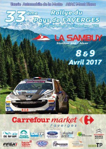 Affiche Rallye du Pays de Faverges 2017