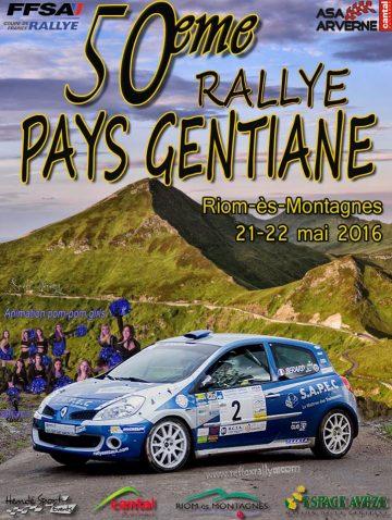 Affiche Rallye du Pays Gentiane 2016
