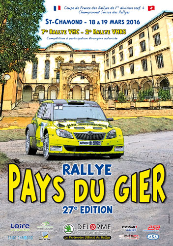 Affiche Rallye Pays du Gier 2016