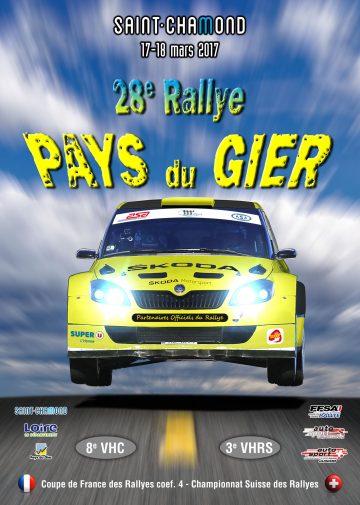 Affiche Rallye Pays du Gier 2017