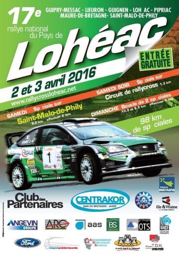 Affiche Rallye du Pays de Lohéac 2016