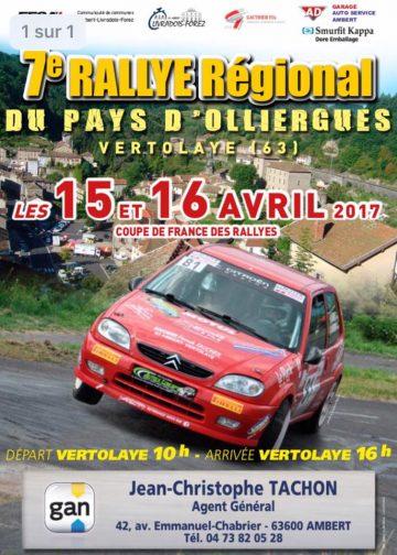 Affiche Rallye du Pays d'Olliergues 2017