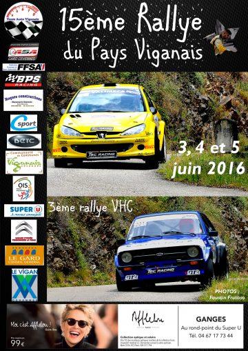 Affiche Rallye du Pays Viganais 2016