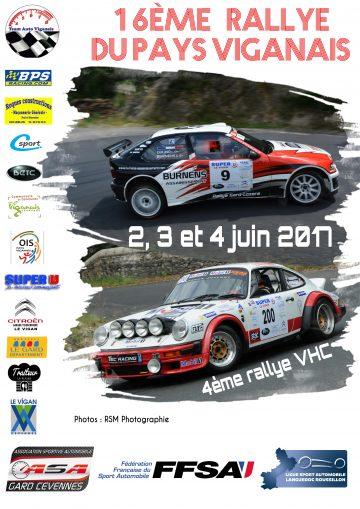 Affiche Rallye du Pays Viganais 2017