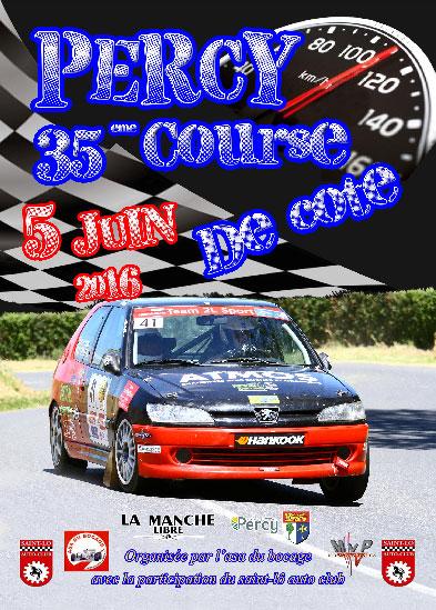 Affiche Course de Côte de Percy 2016