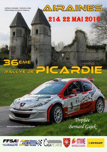Affiche Rallye de Picardie 2016
