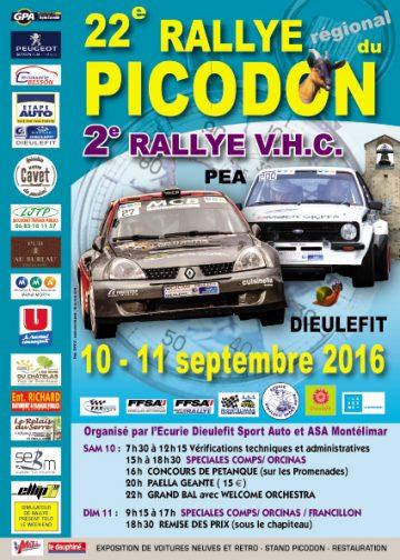 Affiche Rallye du Picodon 2016