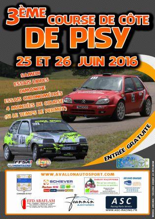 Affiche Course de Côte de Pisy 2016