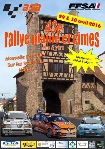 Affiche Rallye Plaine et Cimes 2016