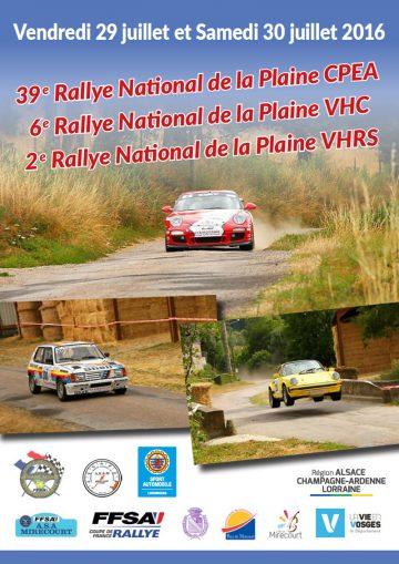 Affiche Rallye de la Plaine 2016