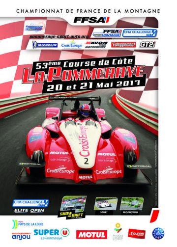 Affiche Course de Côte de La Pommeraye 2017