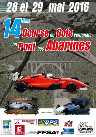Affiche Course de Côte du Pont des Abarines 2016