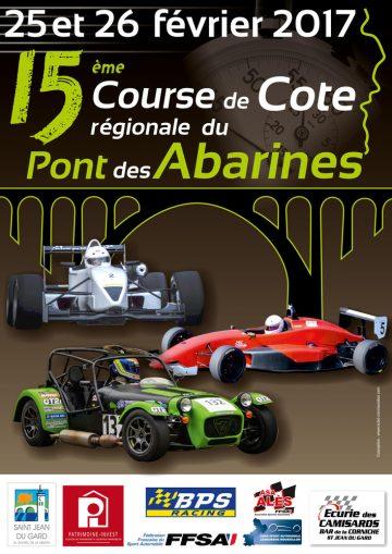 Affiche Course de Côte du Pont des Abarines 2017