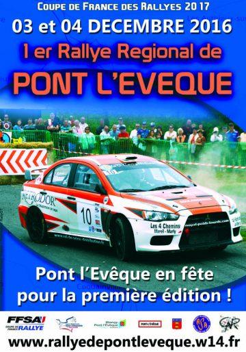 Affiche Rallye de Pont-l'Évêque 2016