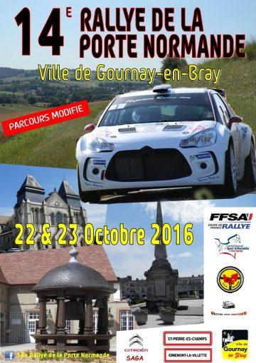 Affiche Rallye de la Porte Normande 2016