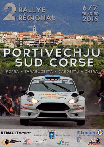 Affiche Rallye Portivechju - Sud Corse 2016