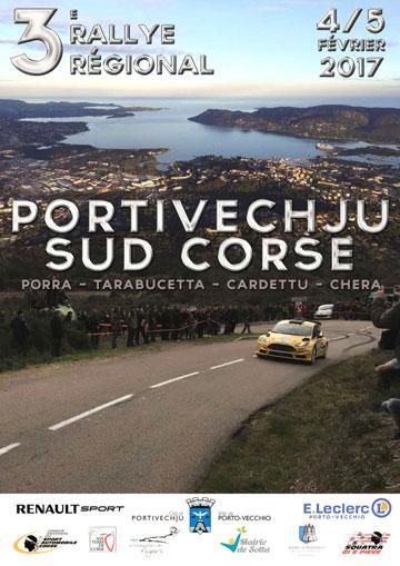 Affiche Rallye Portivechju - Sud Corse 2017