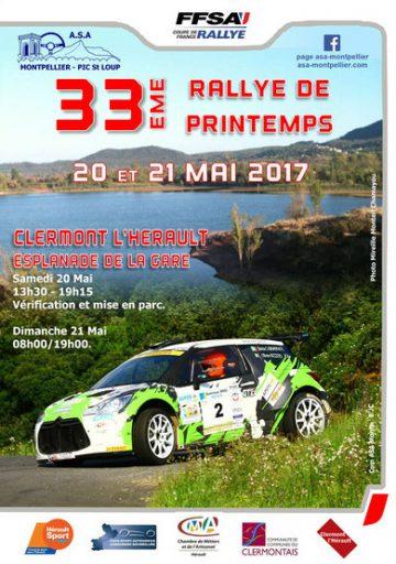 Affiche Rallye de Printemps - Clermont-l'Hérault 2017