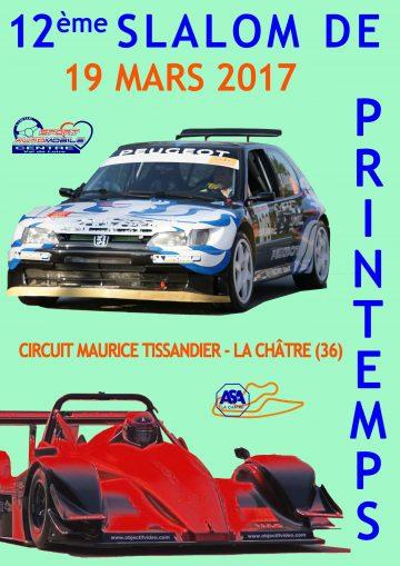 Affiche Slalom de Printemps du Boischaut 2017