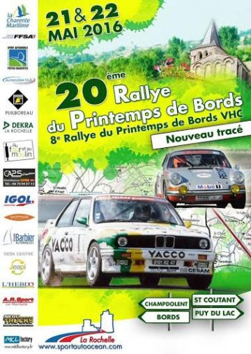 Affiche Rallye du Printemps de Bords 2016