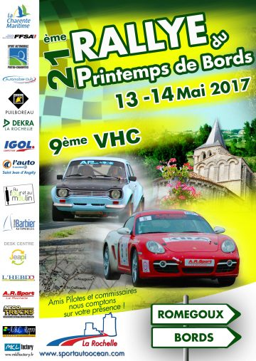 Affiche Rallye du Printemps de Bords 2017