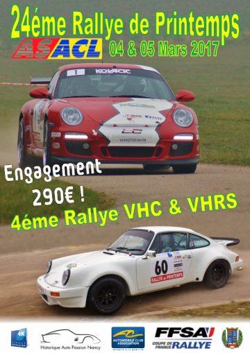 Affiche Rallye de Printemps 2017