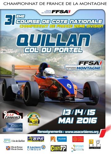Affiche Course de Côte de Quillan - Col du Portel 2016