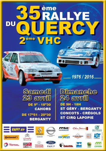 Affiche Rallye du Quercy 2016