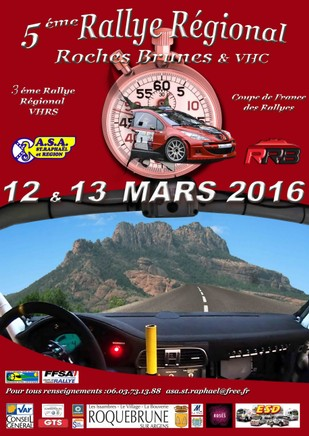 Affiche Rallye des Roches Brunes 2016
