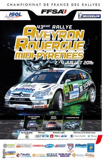 Affiche Rallye du Rouergue 2016