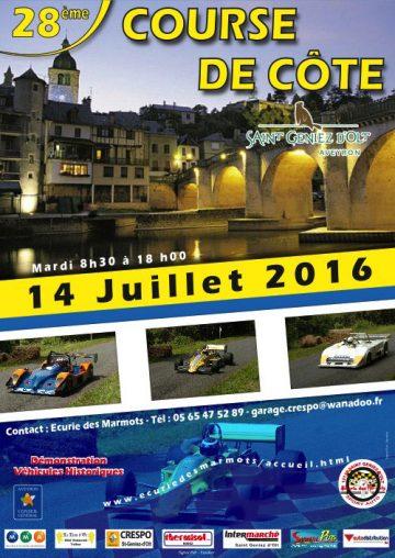 Affiche Course de Côte de Saint-Geniez-d'Olt 2016