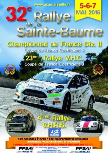 Affiche Affiche Rallye de la Sainte-Baume 2016