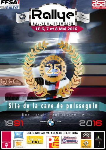 Affiche Rallye du Saint-Émilion 2016