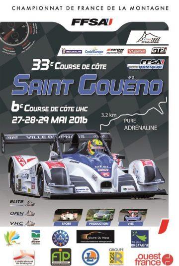 Affiche Course de Côte de Saint-Gouëno 2016
