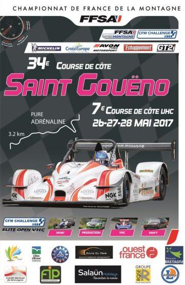 Affiche Course de Côte de Saint-Gouëno 2017