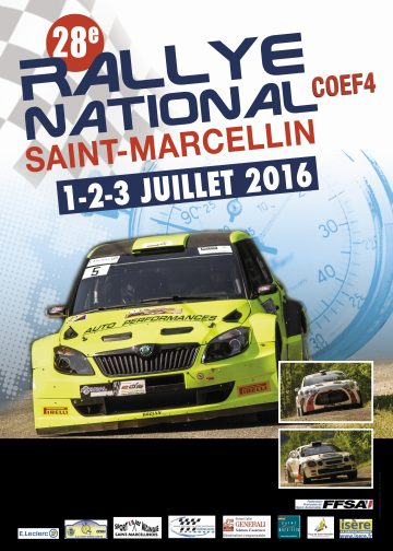 Affiche Rallye de Saint-Marcellin 2016