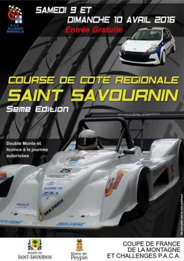 Affiche Course de Côte de Saint-Savournin 2016